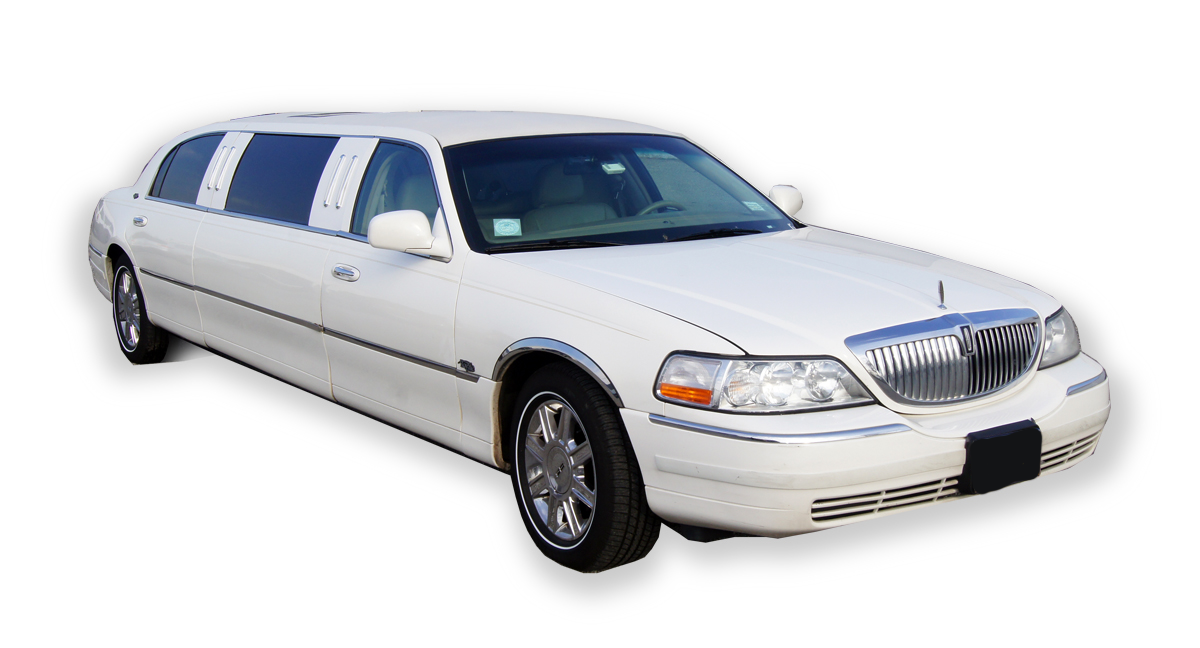 6 Passenger White Lincoln Towncar Stretch Limousine
