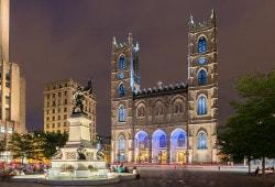 limousine Montreal tour notre Dame Basilica